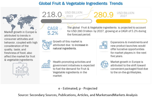 Fruit & Vegetable Ingredients Market