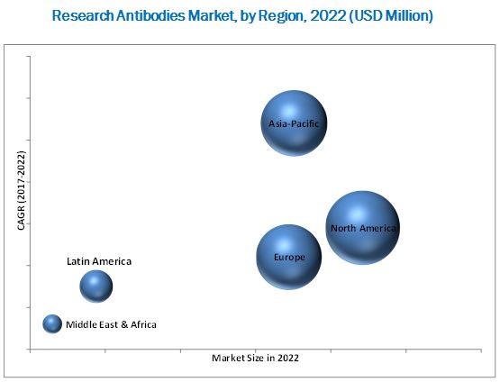 Research Antibodies Market,by Region,2022(USD Million)