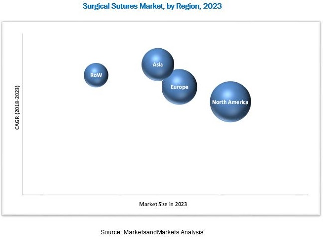 Surgical Suture Market, by Region, 2023